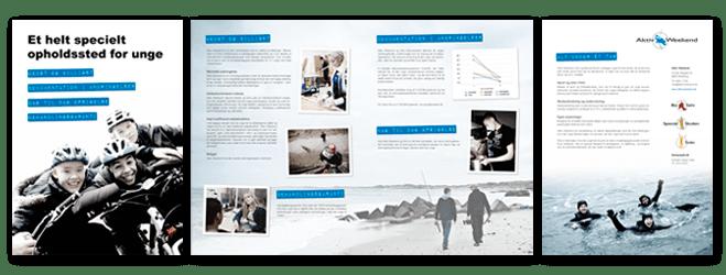 """Klik her for at se brochuren """"Et helt specielt opholdssted for unge"""" som pdf-fil"""