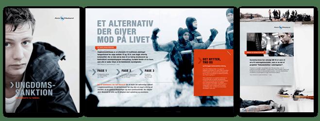 """Klik her for at se brochuren """"Ungdomssanktion"""" som pdf-fil"""